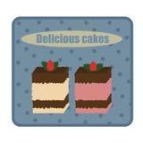 Twee retro cakes Stock Fotografie