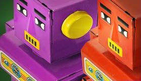 Twee retro robots Royalty-vrije Stock Afbeeldingen