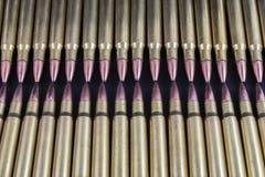 Twee rijen van kogels wat betreft Royalty-vrije Stock Foto