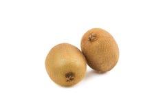 Twee rijp kiwifruit Royalty-vrije Stock Afbeeldingen