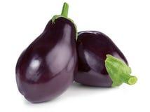 Twee rijpe aubergines Royalty-vrije Stock Fotografie