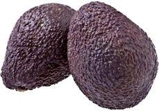 Twee Rijpe geïsoleerdee Avocado's, Stock Foto's