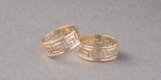 Twee ringen royalty-vrije stock fotografie
