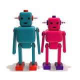 Twee Robotminnaars Stock Fotografie