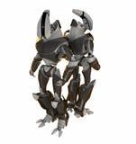 Twee robots rijtjes Stock Foto