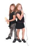 Twee rockstar jonge geitjes Stock Fotografie