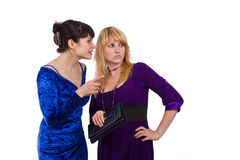 Twee roddelende meisjes Royalty-vrije Stock Afbeelding