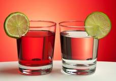 Twee rode dranken Stock Afbeelding