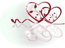 Twee rode harten vector illustratie