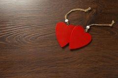 Twee rode harten Stock Fotografie