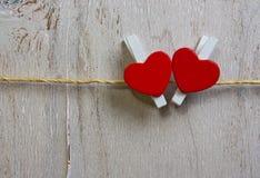 Twee rode harten Royalty-vrije Stock Foto's