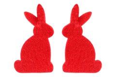 Twee rode konijnen stock foto's