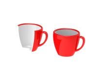 Twee rode koppen Stock Fotografie