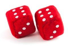 Twee rode kubussen Royalty-vrije Stock Afbeeldingen