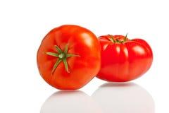 Twee rode tomaten Stock Foto's