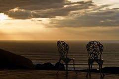 Twee romantische stoelen royalty-vrije stock foto's