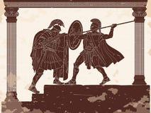 Twee Romein legioner royalty-vrije stock afbeeldingen
