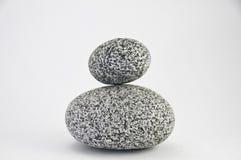 Twee ronde granietrotsen Stock Afbeeldingen