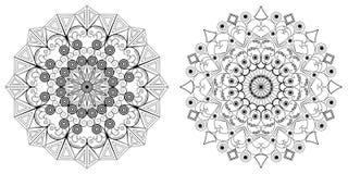 Twee ronde patronen Royalty-vrije Stock Afbeelding