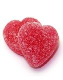 Twee rood hartsuikergoed Royalty-vrije Stock Afbeelding