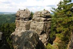 Twee rotsen Stock Afbeeldingen