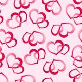 Twee roze harten Stock Afbeelding