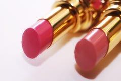 Twee roze luxelippenstift Stock Afbeelding