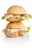 Twee sandwiches Royalty-vrije Stock Foto's