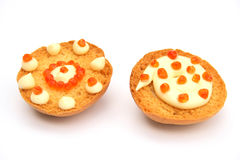 Twee sandwiches Royalty-vrije Stock Afbeelding