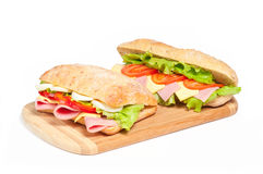 Twee sandwiches stock foto's