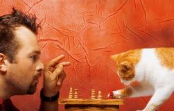 Twee schaakspelers Royalty-vrije Stock Foto's