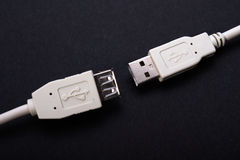 Twee schakelaars USB royalty-vrije stock afbeelding