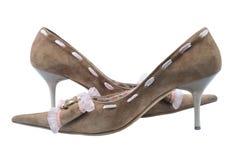Twee schoenen op hiel stock fotografie