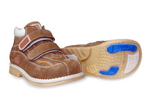 Twee schoenen van de baby Stock Foto