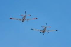 Twee schoolvliegtuigen Royalty-vrije Stock Fotografie