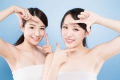 Twee schoonheidsvrouw Royalty-vrije Stock Foto's