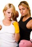Twee sexy boksers Stock Foto