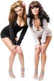 Twee sexy meisjes Stock Afbeeldingen