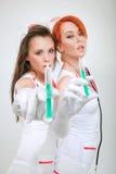 Twee sexy verpleegsters Royalty-vrije Stock Foto's