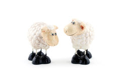 Twee sheeps Stock Foto's