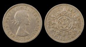 Twee shillingen Royalty-vrije Stock Foto's