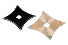 Twee shurikens Royalty-vrije Stock Afbeeldingen