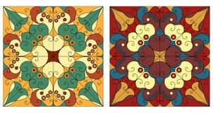 Twee sierachtergronden Royalty-vrije Stock Fotografie