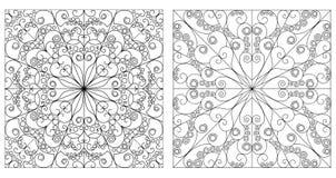 Twee sierachtergronden Stock Afbeeldingen