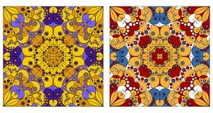 Twee sierachtergronden Royalty-vrije Stock Foto's