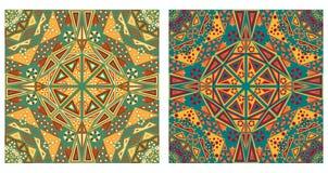 Twee sierachtergronden Stock Foto's