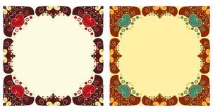 Twee sierframes Royalty-vrije Stock Afbeeldingen