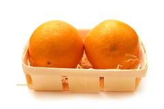 Twee sinaasappelen Royalty-vrije Stock Afbeelding