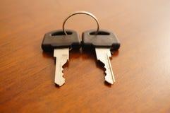 Twee sleutels Stock Afbeeldingen