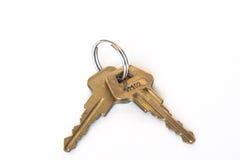 Twee sleutels op ring Stock Afbeeldingen